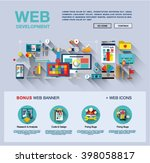 flat web design template of one ...