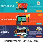 programming  development and... | Shutterstock .eps vector #398063503