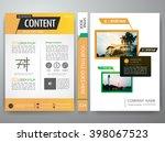 modern flyers brochure magazine ... | Shutterstock .eps vector #398067523