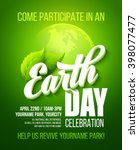 earth day poster. vector... | Shutterstock .eps vector #398077477