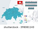 switzerland map and it's states ... | Shutterstock .eps vector #398081143