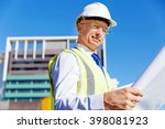 engineer builder at... | Shutterstock . vector #398081923