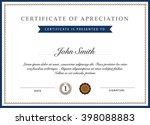 certificate template vector | Shutterstock .eps vector #398088883