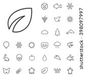 linear ecology icons set....