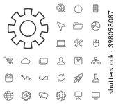 linear development icons set.... | Shutterstock .eps vector #398098087