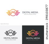 Digital Media Logo Template M...
