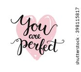 love card with inspirational... | Shutterstock . vector #398115817