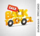 back to school sale logo ... | Shutterstock .eps vector #398116063