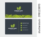 business card or visiting card... | Shutterstock .eps vector #398123893