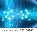 blue abstract vector hi speed... | Shutterstock .eps vector #398130283