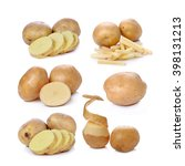 collection of potatoes peeled ... | Shutterstock . vector #398131213