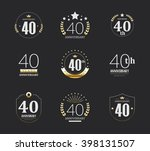 forty years anniversary... | Shutterstock .eps vector #398131507