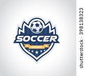 football and soccer badge logo... | Shutterstock .eps vector #398138323