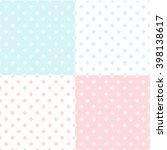 monochrome dotted  polka dot... | Shutterstock .eps vector #398138617