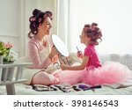 happy loving family. mother and ... | Shutterstock . vector #398146543