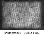 abstract hexagons background.... | Shutterstock . vector #398151403