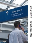 airport directional signs... | Shutterstock . vector #3981592