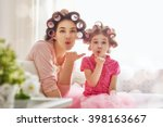 happy loving family. mother and ... | Shutterstock . vector #398163667
