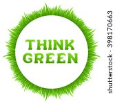 think green inscription with... | Shutterstock .eps vector #398170663