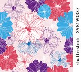 floral seamless pattern with... | Shutterstock . vector #398190337