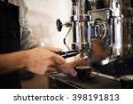 barista coffee maker machine... | Shutterstock . vector #398191813