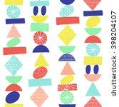 funny geometric seamless... | Shutterstock .eps vector #398204107