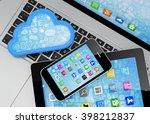 laptop  tablet pc  smart phone...   Shutterstock . vector #398212837