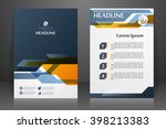 abstract vector modern flyers...   Shutterstock .eps vector #398213383