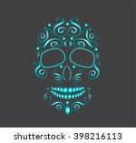 skull vector for fashion design ... | Shutterstock .eps vector #398216113