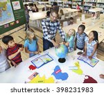 classroom learning geography... | Shutterstock . vector #398231983