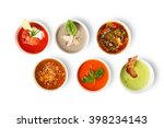 variety of restaurant hot... | Shutterstock . vector #398234143