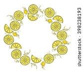 lemon. juicy fruit. fruit... | Shutterstock .eps vector #398238193