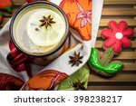 lemon tea cup and homemade... | Shutterstock . vector #398238217