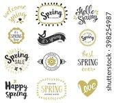 springtime lettering design set.... | Shutterstock .eps vector #398254987