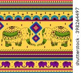 colorful indian tribal seamless ... | Shutterstock .eps vector #398264497