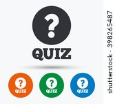 Quiz With Question Mark Icon....