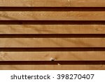 old wooden planks fence... | Shutterstock . vector #398270407