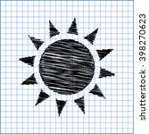 sun sign. flat style icon