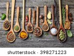 spices on a wooden background | Shutterstock . vector #398271223