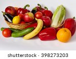 many ripe vegetables and fruit... | Shutterstock . vector #398273203