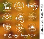 Set Of Honey Labels  Badges ...
