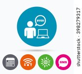 wifi  sms and calendar icons.... | Shutterstock .eps vector #398279317