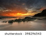 Sunset View Over The Beach Wit...
