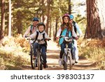 grandparents and kids cycling... | Shutterstock . vector #398303137