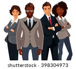 international business people... | Shutterstock .eps vector #398304973