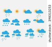 weather icons   vector   eps. | Shutterstock .eps vector #398313253