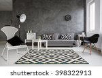 grey living room with sofa ... | Shutterstock . vector #398322913