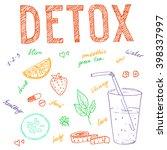 detox program set  vector... | Shutterstock .eps vector #398337997