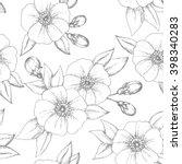 vintage flower seamless pattern ... | Shutterstock .eps vector #398340283