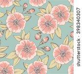 vintage flower seamless pattern ... | Shutterstock .eps vector #398340307